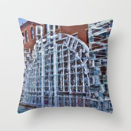 Justice in Ice Throw Pillow