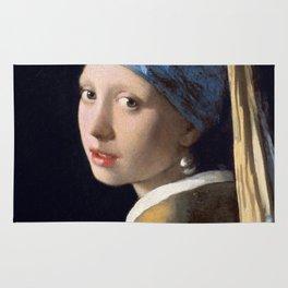 Girl with a Pearl Earring by Johannes (Jan) Vermeer, 1632-1675 Rug