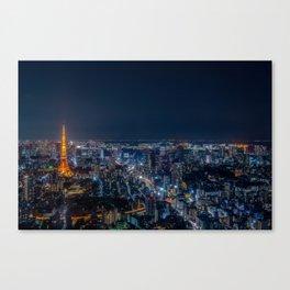 Tokyo, Japan - Night Canvas Print