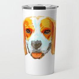 Love Beagle design Gift Art Splash Beagle Dog fans Travel Mug