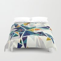 cracked Duvet Covers featuring Cracked I by AJJ ▲ Angela Jane Johnston