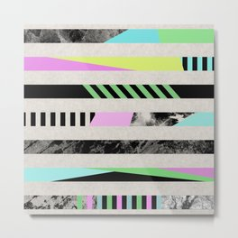 Crazy Lines - Pop Art, Geometric, Abstract Style Metal Print