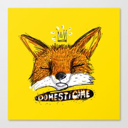Domestícame: fox Canvas Print