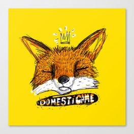 Domestícame: fox Canvas Print