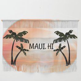 Maui, Hawaii Sunset Wall Hanging