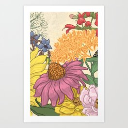 Pollinator Flowers 1 Art Print
