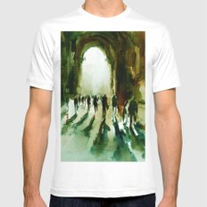 without an end or a beginning  Mens Fitted Tee MEDIUM White