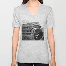 Sloth in Rome Unisex V-Neck