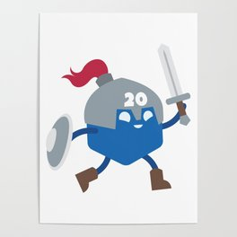 20 Sided Hero Poster