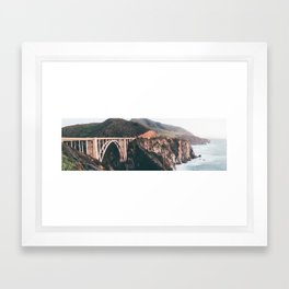 Bixby Bridge Big Sur Landscape Framed Art Print