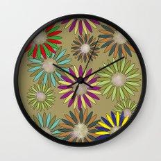 Floral healing meditation Wall Clock