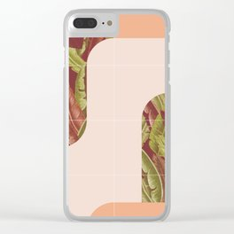 Mid-Century Tropical Style #society6 #tropical Clear iPhone Case