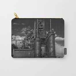 Black and White Bethlehem Steel Blast Furnaces Carry-All Pouch