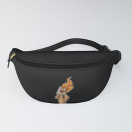 Hand with Burning Ace Card | Poker Luck Gambler Fanny Pack