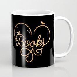 Heart Books Coffee Mug