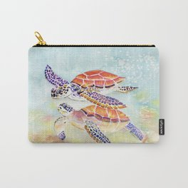 Swimming Together - Sea Turtle Carry-All Pouch