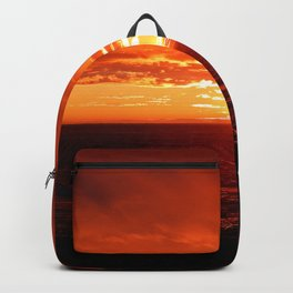 Sun Sets on the Mighty Saint-Lawrence Backpack