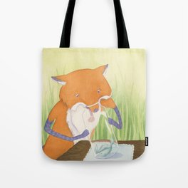The Fox and The Stork Tote Bag