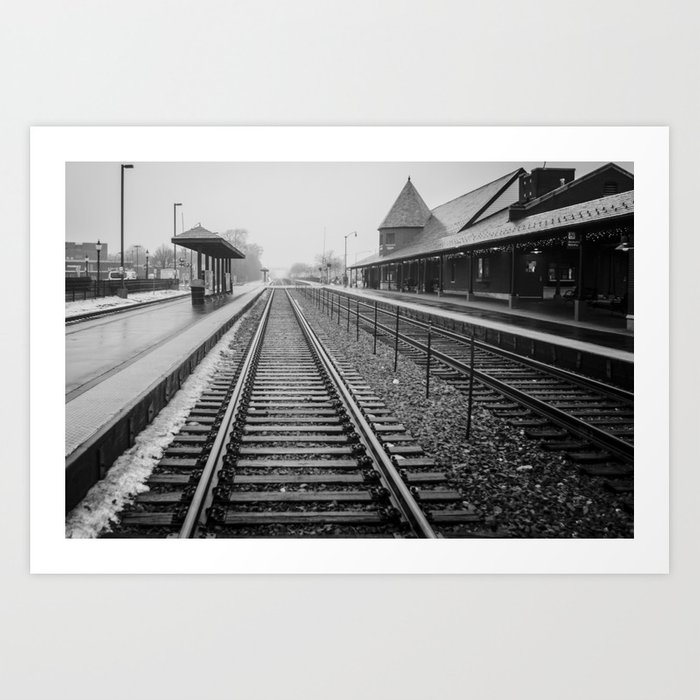 Winter Commute Art Print