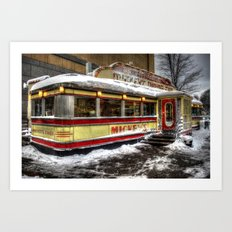 'Mickey's Dining Car' Art Print