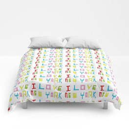 I love New york -New york,New yorker,Manhattan,queens,Bronx,big apple,Times square Comforters