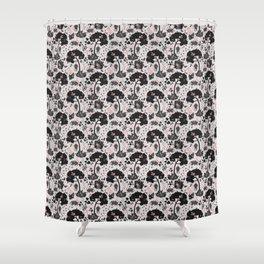 Opossum blossom Shower Curtain