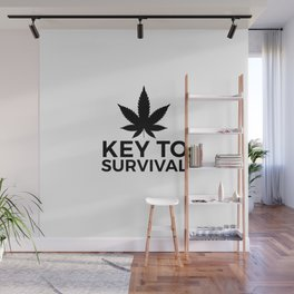 Weed Cannabis leaf gift idea 420 Wall Mural
