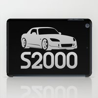 honda iPad Cases featuring Honda S2000 - silver - by Vehicle