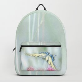 """Swallowtail & Thistles"" by Murray Bolesta Backpack"