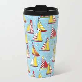 seagulls and sails Travel Mug