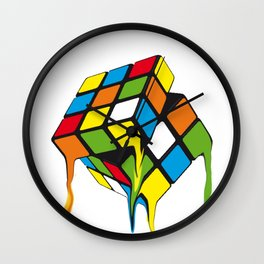 Retro Rubik´s Cube Wall Clock