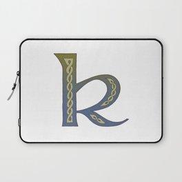 Celtic Knotwork Alphabet - Letter K Laptop Sleeve