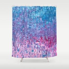 Impasto Brushstrokes Shower Curtain