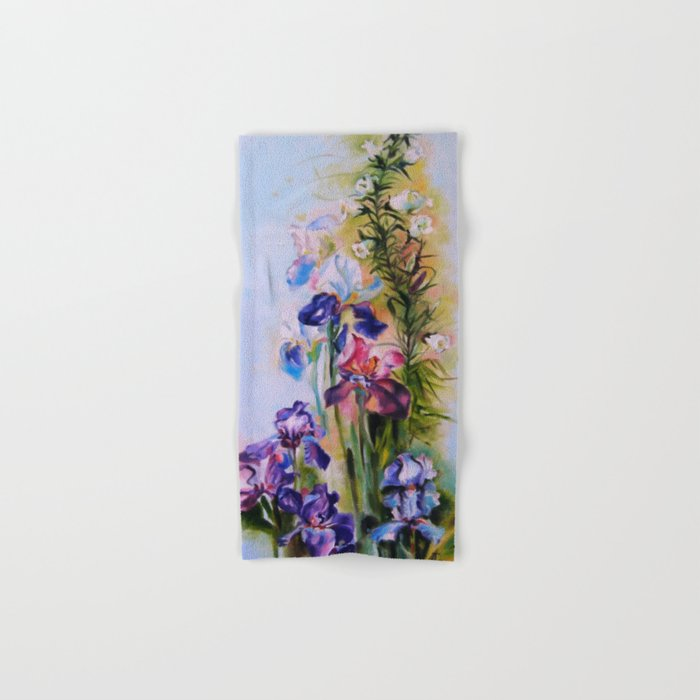 Irises Hand & Bath Towel