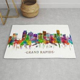 Grand Rapids Michigan Skyline Rug