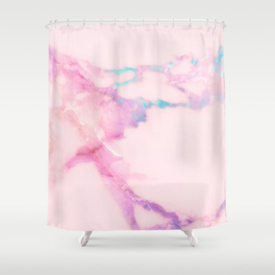 Pink Iridescent Vein Marble by cafelab