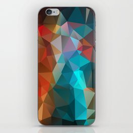 Abstract bright background of triangles polygon print illustration iPhone Skin