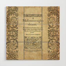 Shakespeare. A midsummer night's dream, 1600 Wood Wall Art