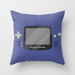 Gameboy Advance - Indigo Throw Pillow