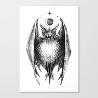 bat Canvas Prints featuring Bat by Ulla Thynell