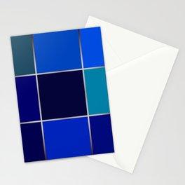 Cobalt , patchwork Stationery Cards