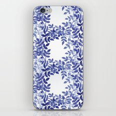 Delicate watercolor pattern with leaves iPhone & iPod Skin
