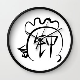 Chinese New Year of Rooster surname Zhong Wall Clock