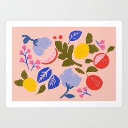 Arancia Rossa Art Print