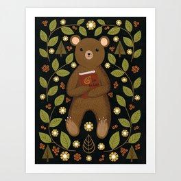 story bear Art Print