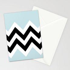 LIGHT BLUE COLORBLOCK CHEVRON Stationery Cards
