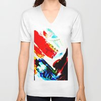 hipster V-neck T-shirts featuring Hipster  by mcmerriweather