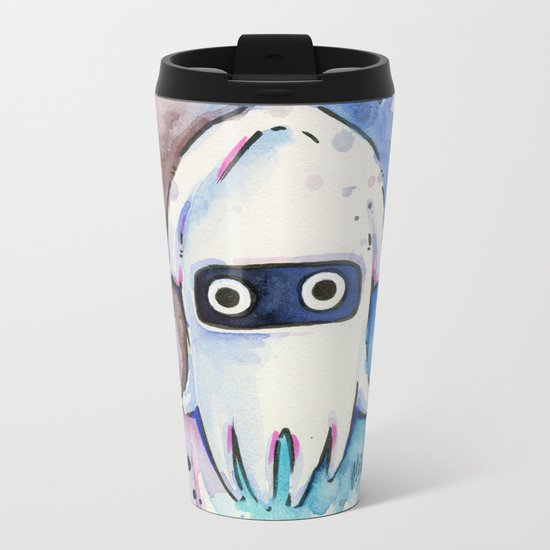 Blooper Watercolor Mario Art Metal Travel Mug