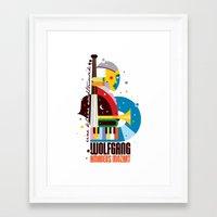 mozart Framed Art Prints featuring Mozart by Szoki