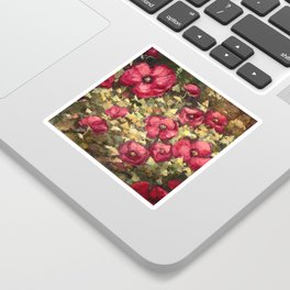 Poppies in the Light Sticker